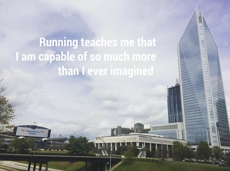 Running teaches me that