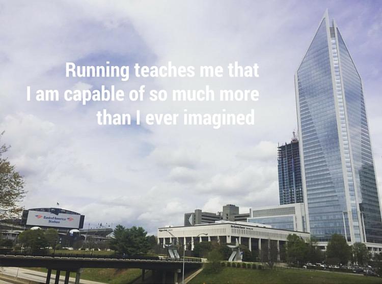 Running teaches me that